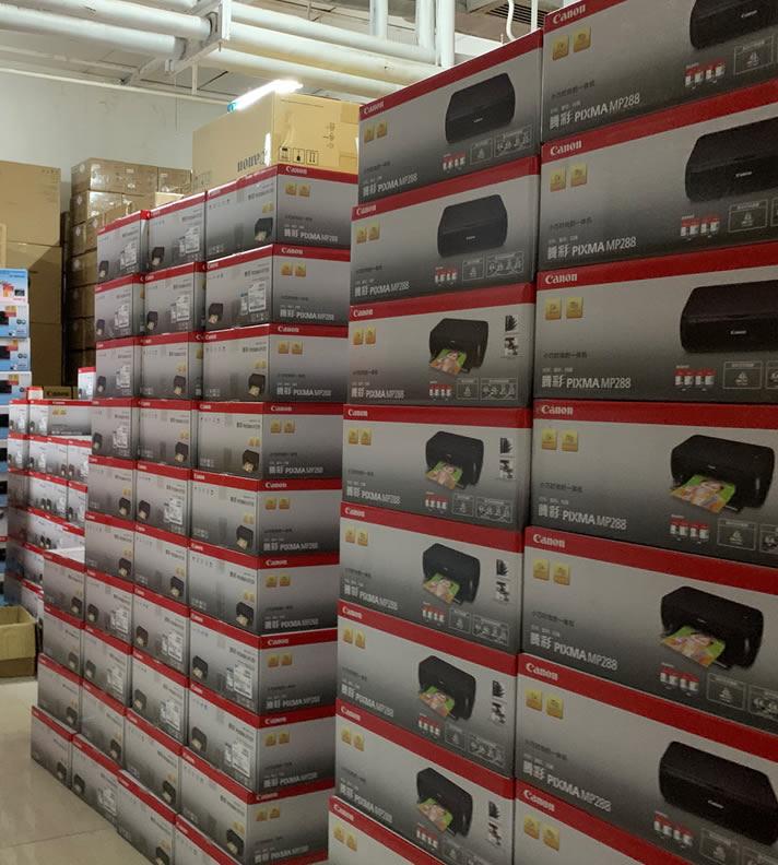 日常:300台打印机即将发往丹东边境